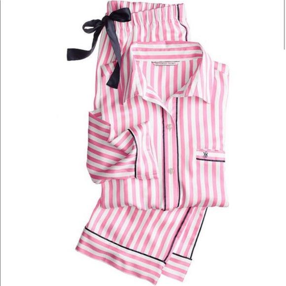 2d6ca8500f0af Victoria Secret Silk Pajamas NWT